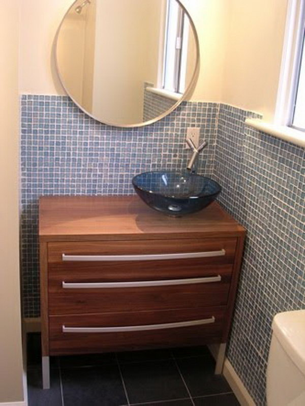 Bathroom Vanity from Chest of Drawers.