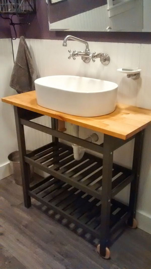 15 genius ikea hacks for bathroom hative. Black Bedroom Furniture Sets. Home Design Ideas