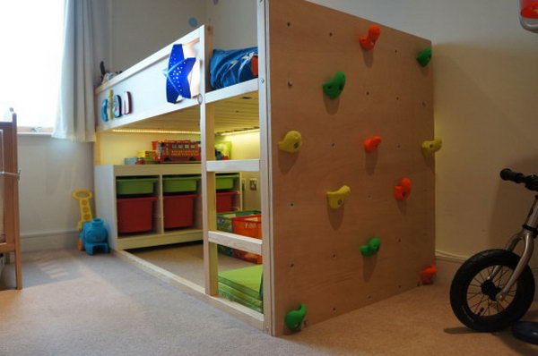 Ikea Kura Bed With Climbing Wall Kids Love This Is A Channels