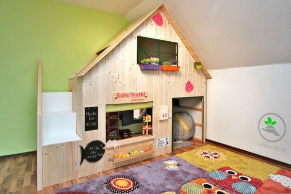 Transform a Kura Bed to an Awesome Playhouse Bed