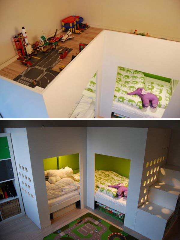 Ikea Kinderbett Was Mitwächst ~ IKEA Mydal Loftbed with Play Area With 2 Mydal loftbeds, 1 trofast