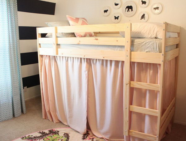 Turn An Ikea Mydal Bunk Bed To A Loft With Little Secret Play House