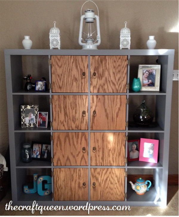 Shabby Chic Kallax/ Expedit Makeover. Get the tutorial here.