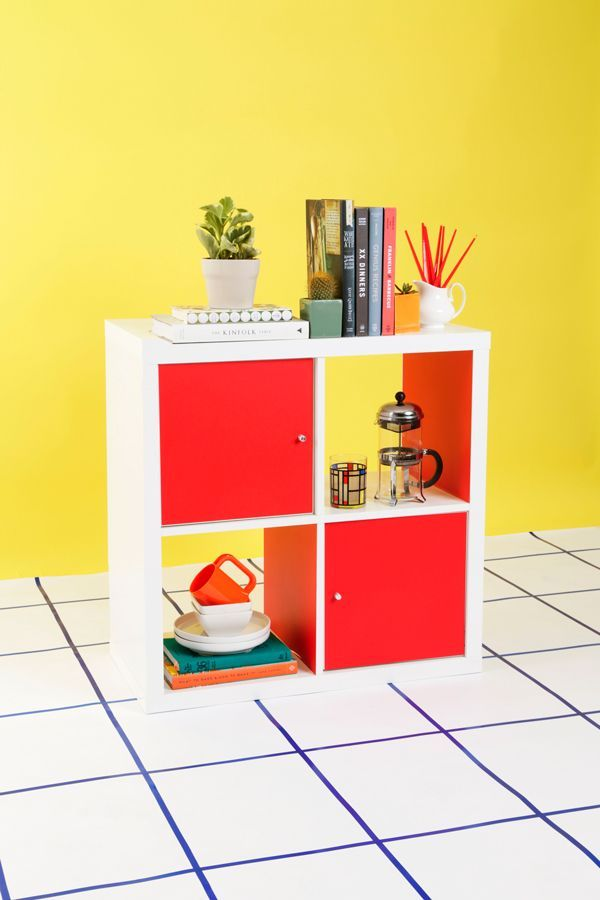 Diy standing desk - Creative Kallax Hacks With Pops Of Color And Doors See More