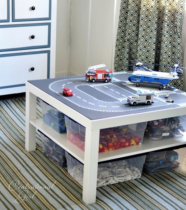20 ikea lack table hacks hative for Ikea lack lego table