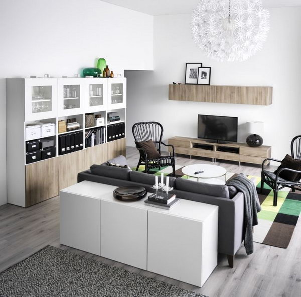 Elegant Black Gray White Ikea Living Room Ideas Super And