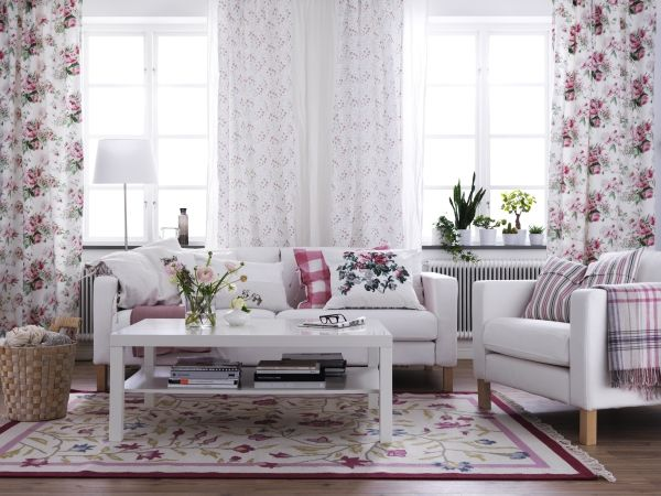 Soft And Feminine IKEA Living Room White Earthy Neutrals Updated Versions Of Florals Gives