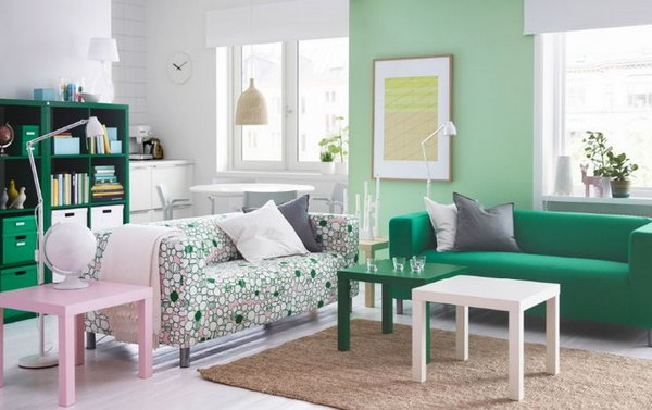 Green Living Room Ideas For Soothing Sophisticated Spaces: 15+ Beautiful IKEA Living Room Ideas