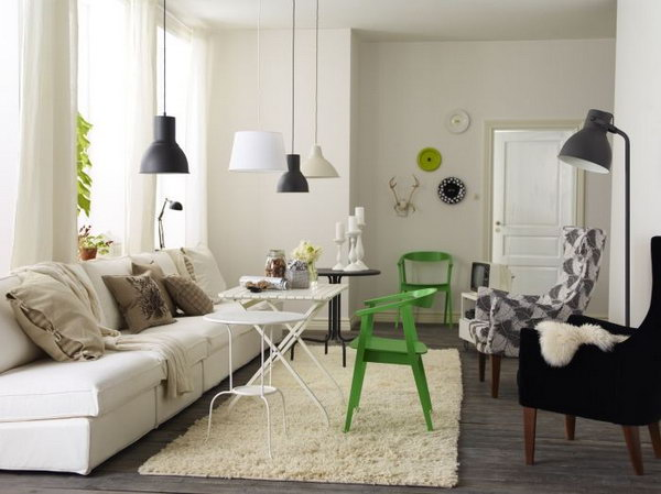 the combination of rustic and modern in this living room the dark rustic - Living Room Decor Ikea