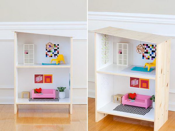 IKEA Dollhouse Hack. Turn a Rast nightstand into a modern dollhouse for your little one's room. Learn how to make it