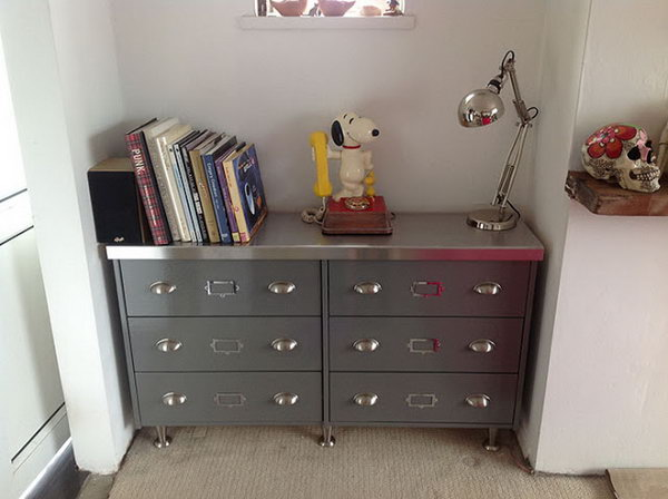 Faux Vintage Steel Sideboard from RAST Chest. See the instructions
