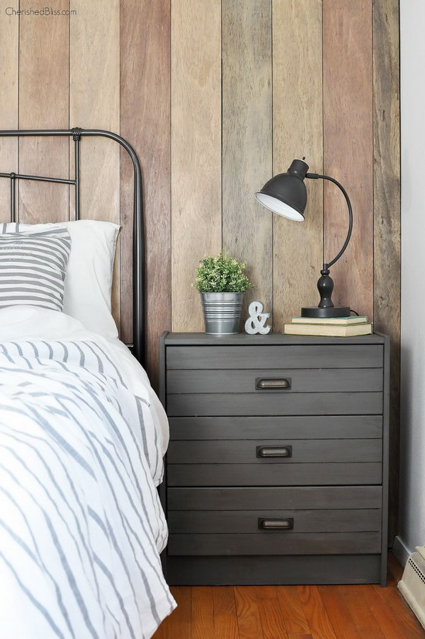 Rustic Industrial Nightstand. Paint a basic IKEA RAST chest with the ...