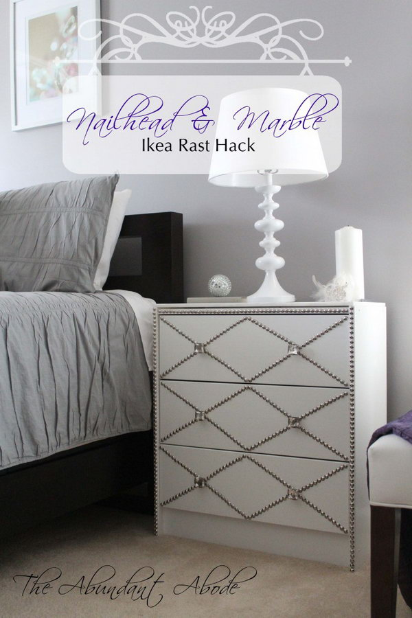Nailhead & Marble Ikea Rast Hack. Get the instructions