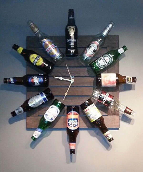 30 cool man cave stuff ideas hative for How to make a table out of bottle caps