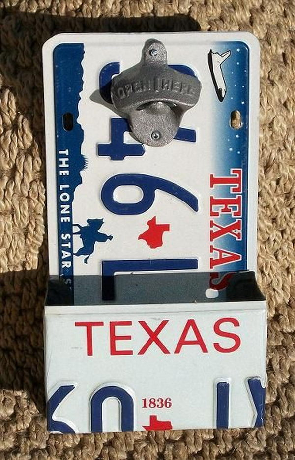 License Plate Box and Plate Bottle Opener