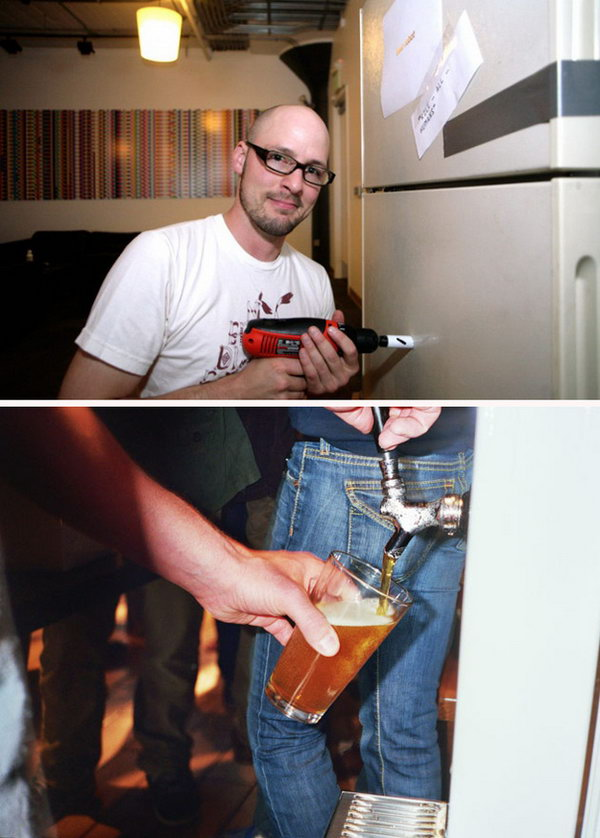 A Kegerator: With Spigot can come out through the wall by the pool, this kegerator is extremely cool.