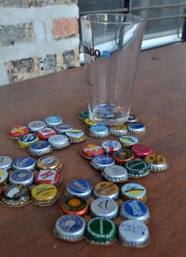 Bottlecap Coasters
