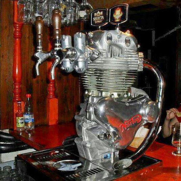 Motorcycle Engine Beer Tap