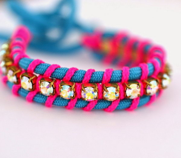 Beautiful DIY Friendship Bracelets with Swarovski Elements