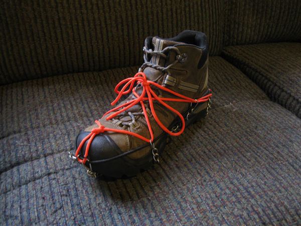 Emergency Paracord and Crampons for Ice and Snow