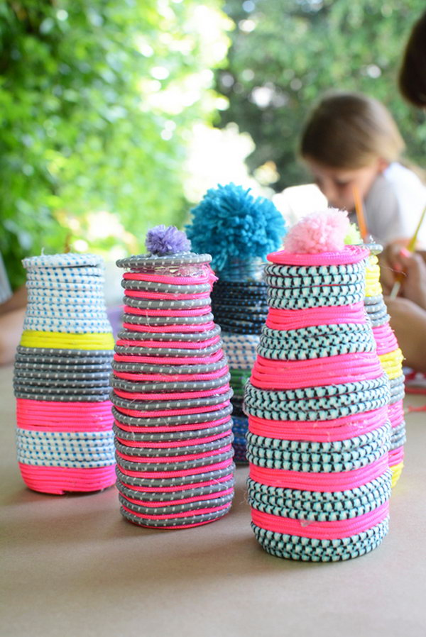 DIY Paracord Vases