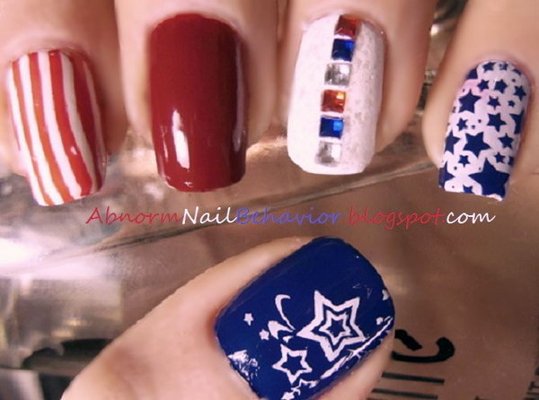 Patriotic Manicure Design