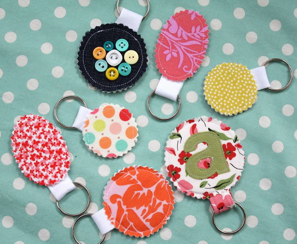 Fabric Keychains. These keychains are easy enough you can whip up a whole batch in just an hour. They are the best DIY gifts that everyone will actually use. See how to do it