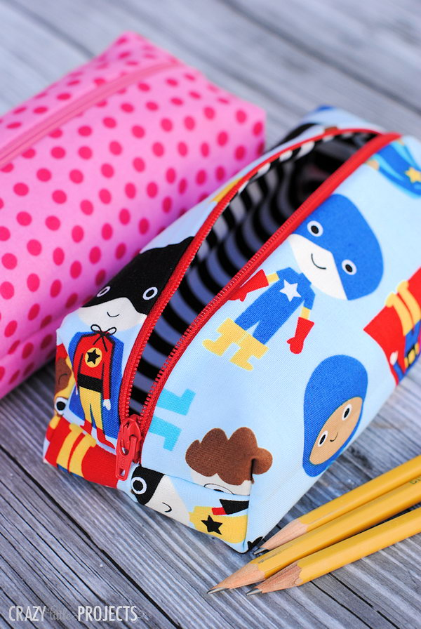 Cute and Easy Pencil Bags. See how to do it