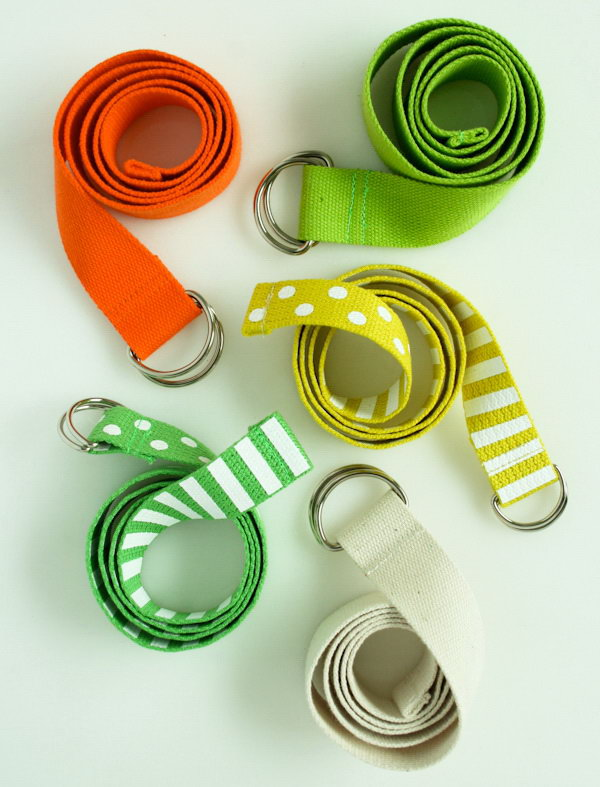 Easy D Ring Belts. See how to do it