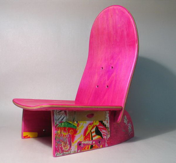 Cool Game Chair for Kids: Gorgeous transformation! The useless skateboard  was getting an amazing