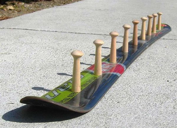 DIY Skateboard Coat Rack