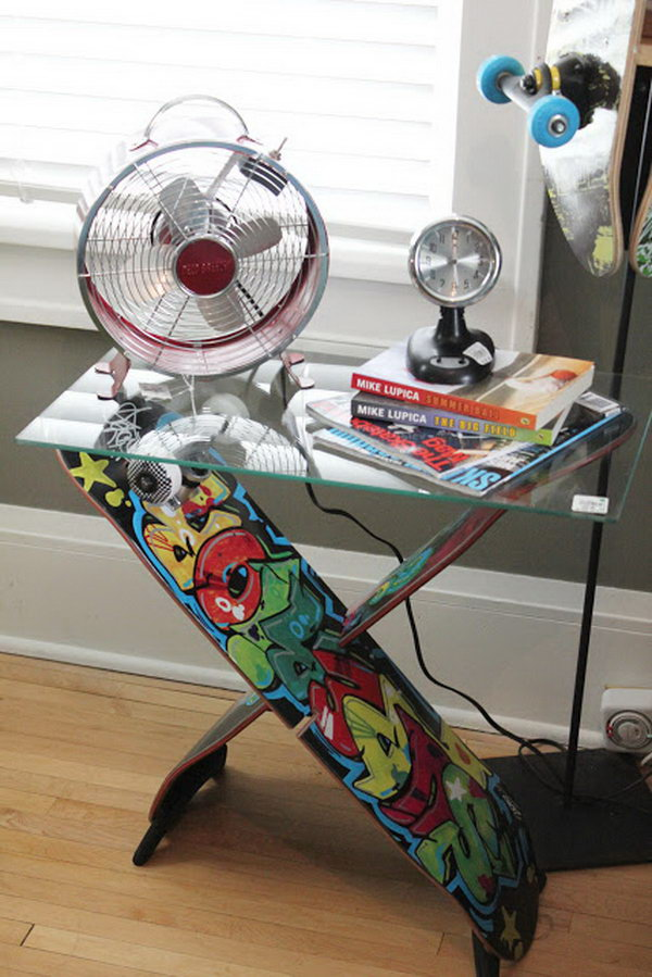 20 Fun And Creative Skateboard Upcycling Ideas Hative