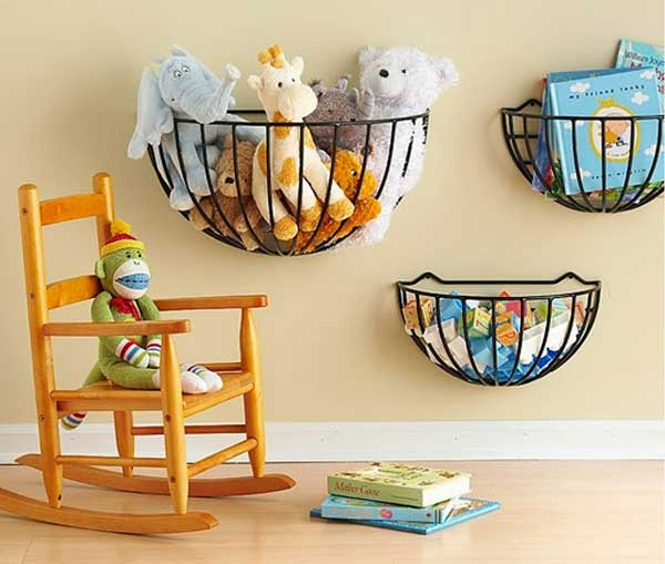 Hanging Basket Stuffed Toy Storage