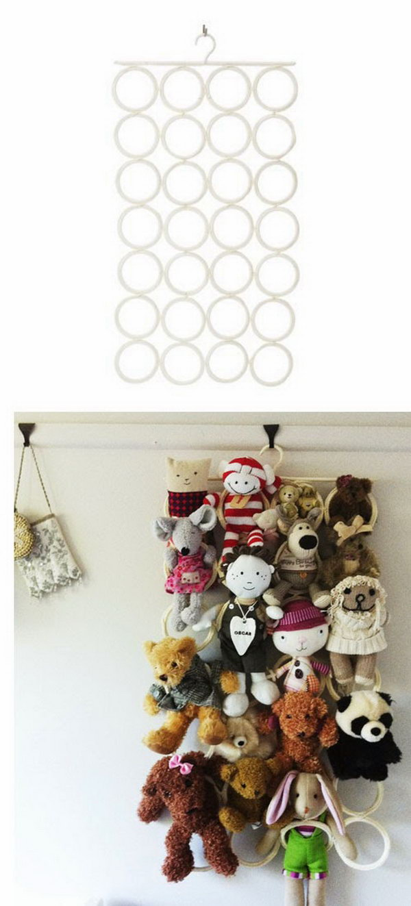 25 Clever & Creative Ways to Organize Kids' Stuffed Toys - Hative