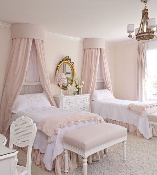 40+ Cute and InterestingTwin Bedroom Ideas for Girls - Hative on Room For Girls  id=94625