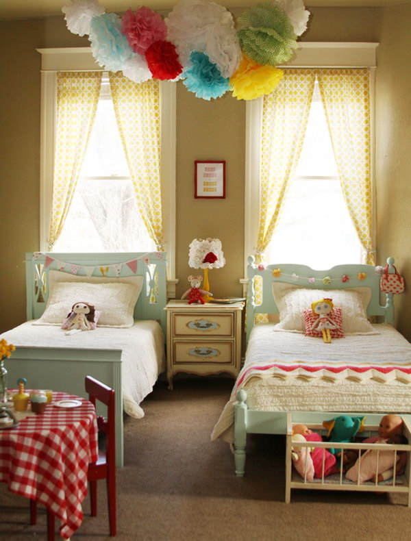 40+ Cute and InterestingTwin Bedroom Ideas for Girls - Hative