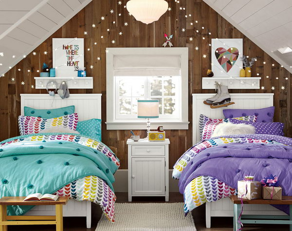 40 cute and interestingtwin bedroom ideas for girls hative - Teenage beds for small rooms ...