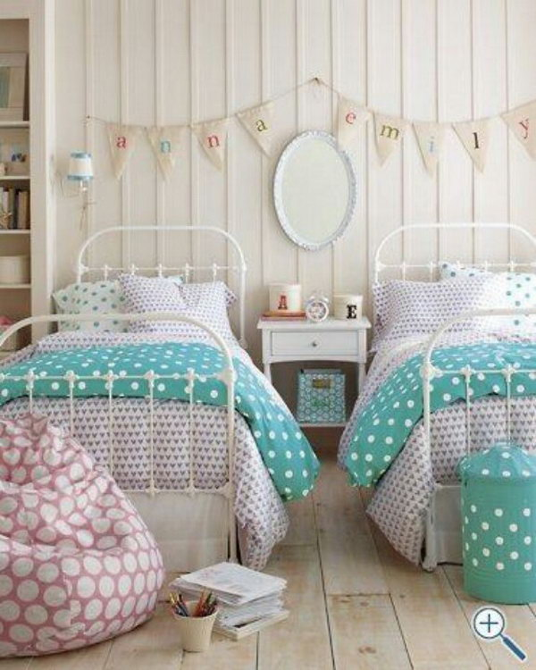40 cute and interestingtwin bedroom ideas for girls hative Bedrooms for girls