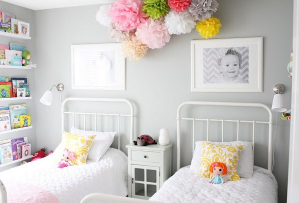40 cute and interestingtwin bedroom ideas for girls hative - Girls bedroom ideas for small rooms ...