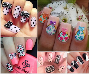 bow-nails-collage