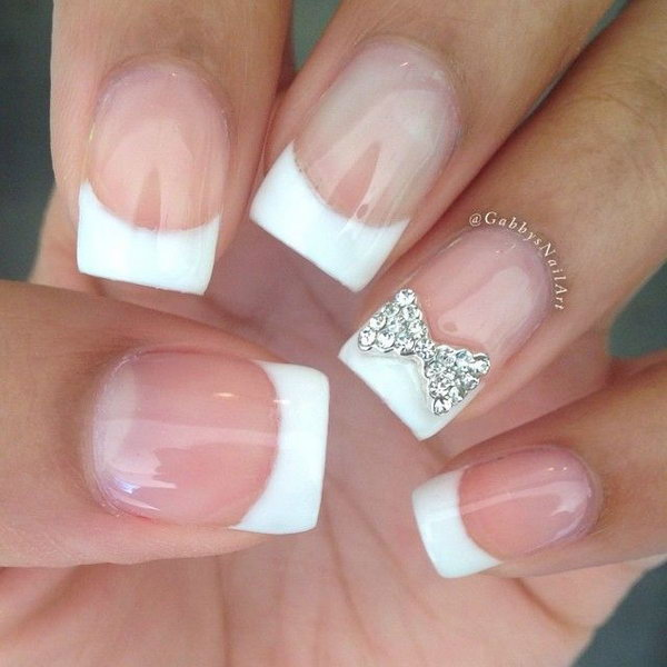 45 Wonderful Bow Nail Art Designs - Hative