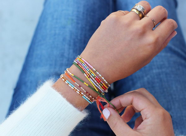 DIY Morse Code Bracelets. Get the steps
