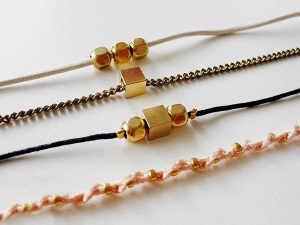 DIY Hardware Bracelet. Get the steps