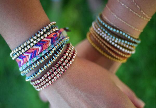 DIY Wrap Bracelet. See the tutorial