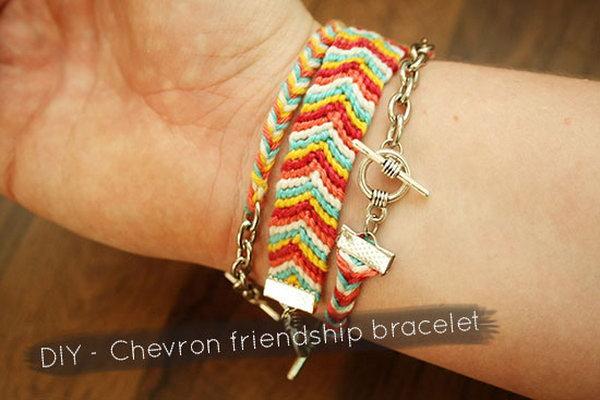DIY Chevron Friendship Bracelet. See the tutorial