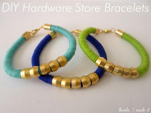 Diy Hardware Bracelets See The Tutorial