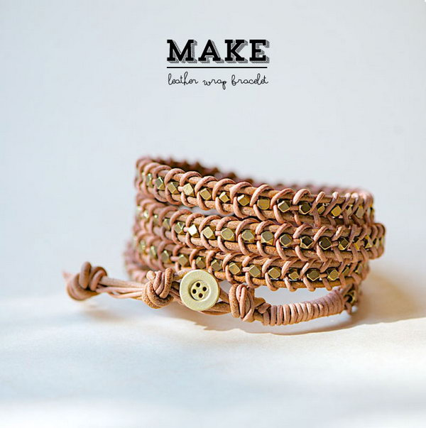 diy leather bracelet tutorial - photo #6