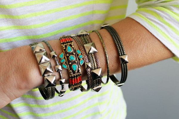 Studded Bangles. See the tutorial