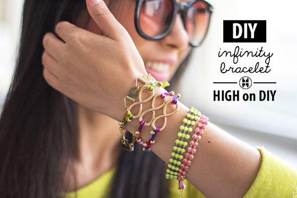 DIY Infinity Beaded Bracelet. See the tutorial