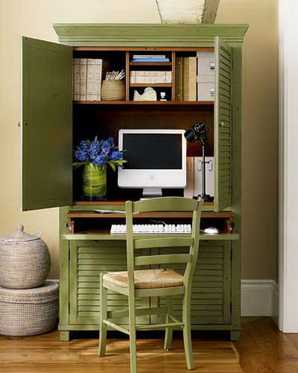 diy computer desk from wardrobe - Computer Desk Designs For Home